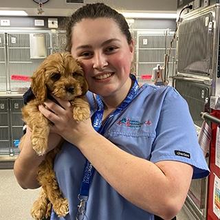 Client Care Specialist Megan Ponder, Animal Emergency Service Jindalee