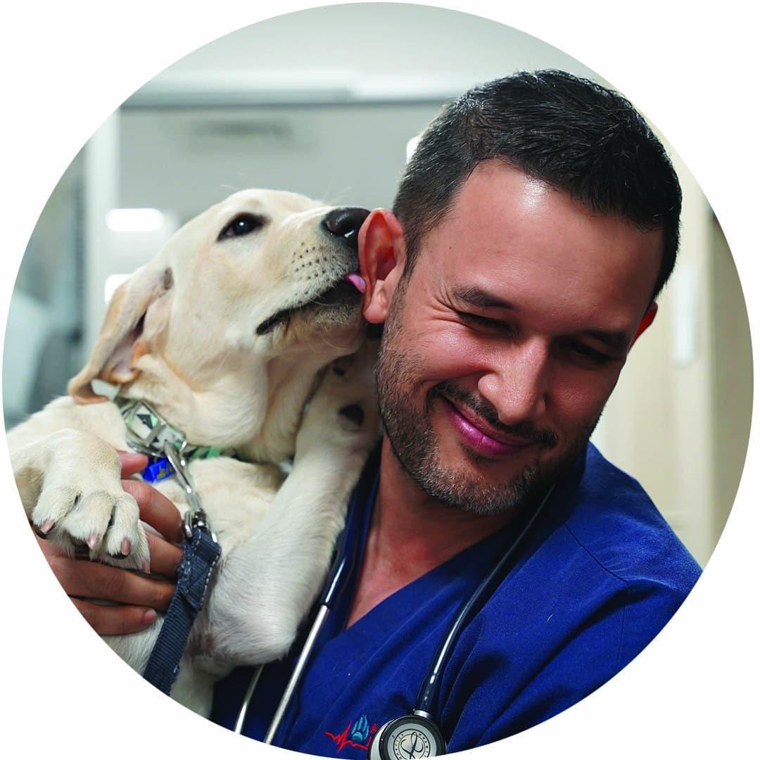 Dr Gerardo Poli and cute dog